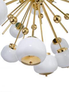 Mid Century Modern Style Sputnik Chandelier with Murano Glass Orbs - 1487801