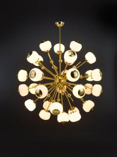 Mid Century Modern Style Sputnik Chandelier with Murano Glass Orbs - 1487802