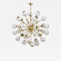 Mid Century Modern Style Sputnik Chandelier with Murano Glass Orbs - 1490143