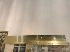 Mid Century Modern Tall Lucite Mirror Gold Tone Metal Cabinet w Lighting - 613223
