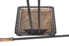 Mid Century Modern Two Tone Fireplace Tool Set - 2108800
