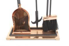 Mid Century Modern Two Tone Fireplace Tool Set - 2108807