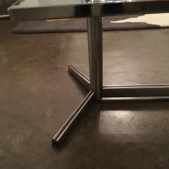 Mid Century Modern Vallouris Handmade Tile Table Top on Chromed Steel Base - 615595