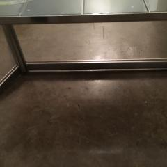 Mid Century Modern Vallouris Handmade Tile Table Top on Chromed Steel Base - 615596