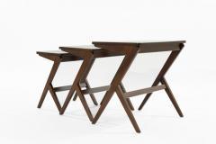 Mid Century Modern Walnut Nesting Tables - 1479309