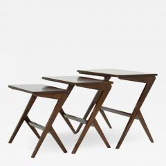 Mid Century Modern Walnut Nesting Tables - 1482302
