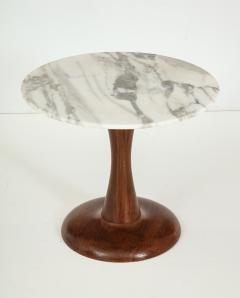 Mid Century Modern side table Walnut and Marble Top  - 822493