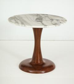 Mid Century Modern side table Walnut and Marble Top  - 822494
