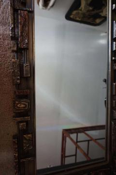 Mid Century Modernist Syroco Brutalist Mirror with Shelf - 1796254