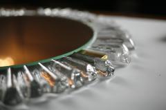 Mid Century Modetn Sunburst Crystal Mirror by Kalmar Austria 1960s - 2055317