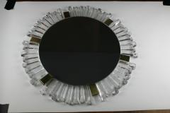 Mid Century Modetn Sunburst Crystal Mirror by Kalmar Austria 1960s - 2055319