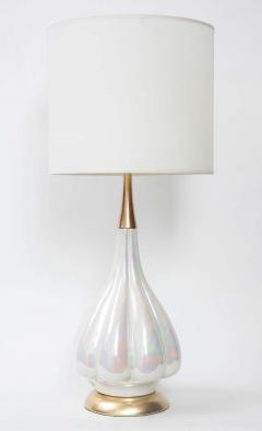 Mid Century Opalescent Glazed Ceramic Lamps - 1707003
