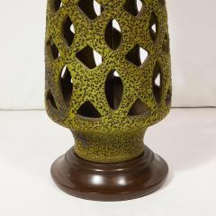 Mid Century Organic Modern Sculptural Latticework Table Lamp - 1733328