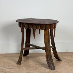 Mid Century Palm Leaf Table With Antique Marble Top Hawaii - 1580321