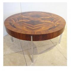 Mid Century Round Cocktail Table in Walnut and Chrome France Circa 1965 - 242126