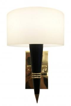 Mid Century Sconces with Round Glass Shades - 1091995