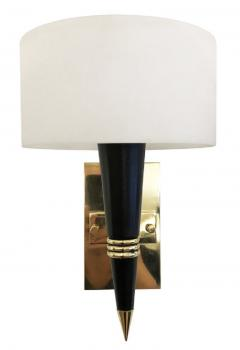 Mid Century Sconces with Round Glass Shades - 1091996