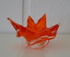 Mid Century Sculptural Hand Blown Glass Bowl - 1077821