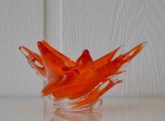 Mid Century Sculptural Hand Blown Glass Bowl - 1077824