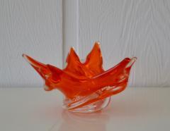 Mid Century Sculptural Hand Blown Glass Bowl - 1077825