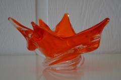 Mid Century Sculptural Hand Blown Glass Bowl - 1077827
