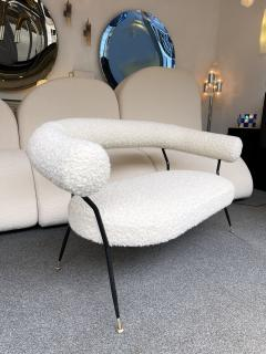 Mid Century Sofa in Boucl Fabric by IPA Bologne Italy 1950s - 2003631