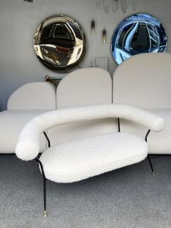 Mid Century Sofa in Boucl Fabric by IPA Bologne Italy 1950s - 2003633
