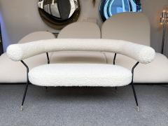 Mid Century Sofa in Boucl Fabric by IPA Bologne Italy 1950s - 2003637