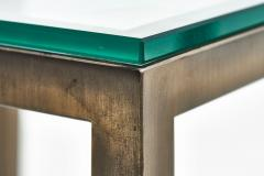 Mid Century Solid Bronze and Glass Side Tables 1970 - 2126500