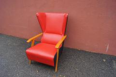 Mid Century Spanish High back Leather Lounge Chair - 1148606