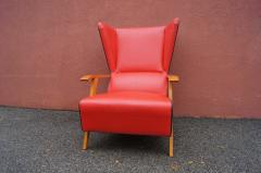 Mid Century Spanish High back Leather Lounge Chair - 1148607
