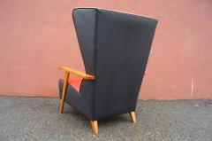 Mid Century Spanish High back Leather Lounge Chair - 1148612