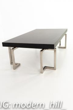 Mid Century Stainless Laminate Rectangular Coffee Table - 1869022