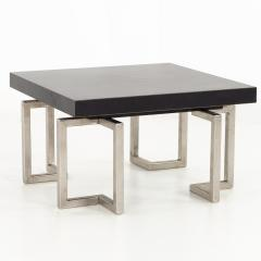 Mid Century Stainless Laminate Side End Table - 1870415