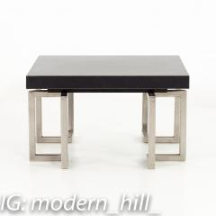 Mid Century Stainless Laminate Side End Table - 1870416