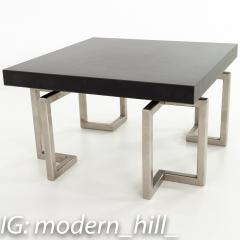 Mid Century Stainless Laminate Side End Table - 1870418