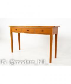 Mid Century Teak 3 Drawer Sofa Table Foyer Entry Console - 1810269