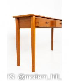 Mid Century Teak 3 Drawer Sofa Table Foyer Entry Console - 1810270