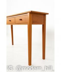 Mid Century Teak 3 Drawer Sofa Table Foyer Entry Console - 1810271