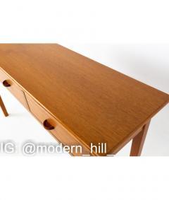 Mid Century Teak 3 Drawer Sofa Table Foyer Entry Console - 1810272