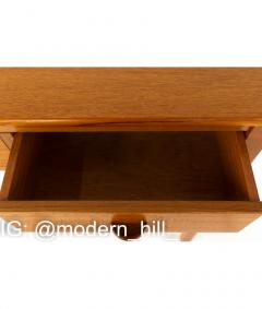 Mid Century Teak 3 Drawer Sofa Table Foyer Entry Console - 1810273