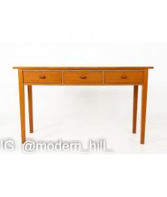 Mid Century Teak 3 Drawer Sofa Table Foyer Entry Console - 1810277