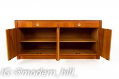 Mid Century Teak and Brass Sideboard Buffet Credenza - 1869042