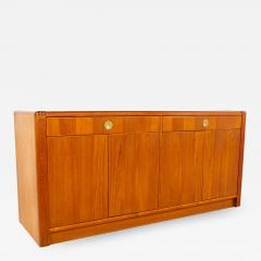 Mid Century Teak and Brass Sideboard Buffet Credenza - 1876108