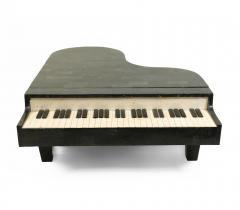 Mid Century Tessellated Hardstone Piano Shaped Coffee Table - 1379454