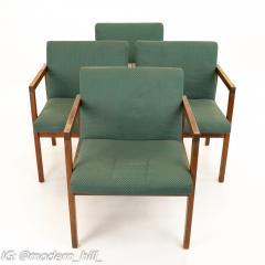 Mid Century Walnut Armchairs Set of 4 - 1869818