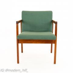 Mid Century Walnut Armchairs Set of 4 - 1869820