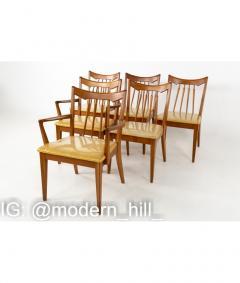 Mid Century Walnut Dining Chairs Set of 6 - 1810361