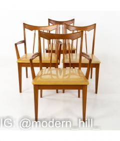 Mid Century Walnut Dining Chairs Set of 6 - 1810362