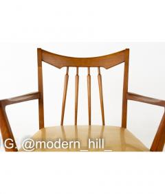 Mid Century Walnut Dining Chairs Set of 6 - 1810364